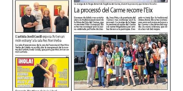 Joves de Down Lleida visiten la seu de Natural Optics a Torrefarrera