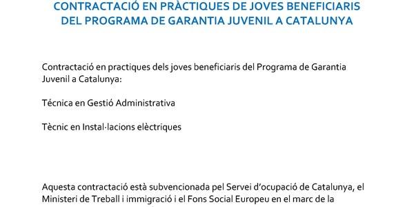 L'Ajuntament de Torrefarrera contracta a 2 joves del programa de garantía juvenil
