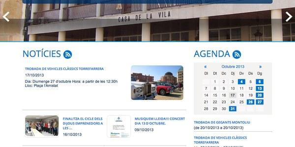 L'Ajuntament de Torrefarrera estrena nova web amb més serveis