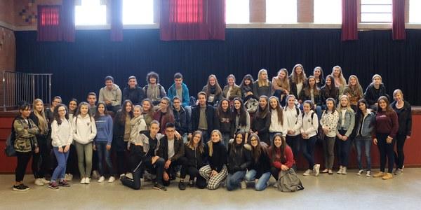 L'Institut Joan Solà acull 30 estudiants europeus del projecte Erasmus+