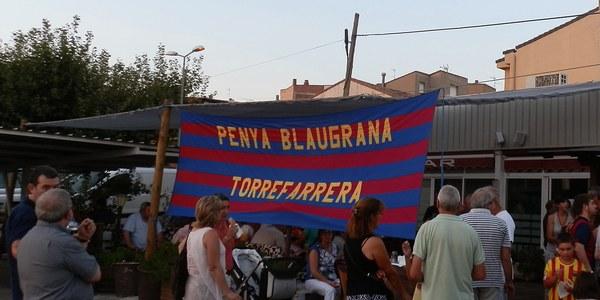 Més de 200 persones, en la inauguració del nou local de la Penya Blaugrana de Torrefarrera