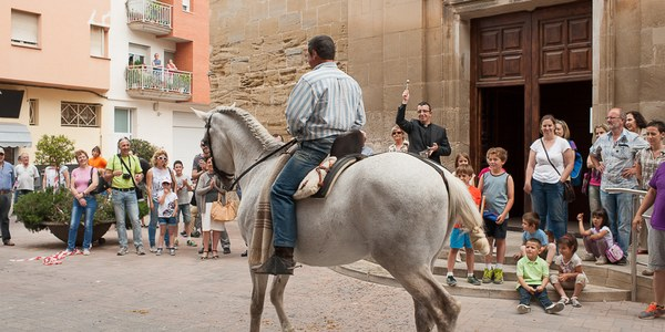 Més de 80 cavalls de muntura a la 2a Festa dels Tres Tombs de Torrefarrera