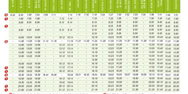 Modificacions al horaris de la  línea de bus Alfarràs-Lleida