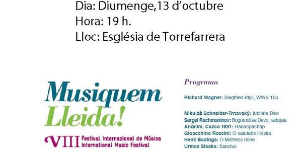 Musiquem Lleida!!! Concert dia 13 d'octubre.