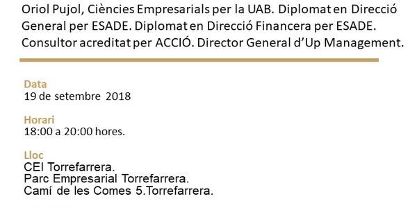 Nova càpsula formativa al CEI Torrefarrera: 'Els pecats capitals de l'emprenedor'