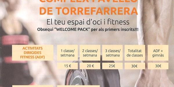 Noves activitats per a la temporada 2017-2018 del Complex Esportiu de Torrefarrera