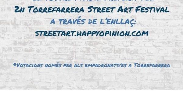 Obert el període de votacions populars del Torrefarrera Street Art Festival 2018