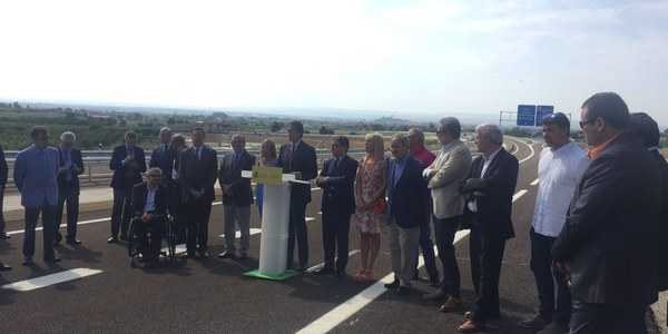 Obert el tram de l'A-14 entre Lleida i Rosselló amb accés directe des del Parc Empresarial Torrefarrera