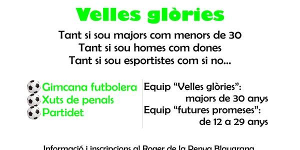 Partit de futures promeses contra velles glòries, al Camp de Futbol de Torrefarrera