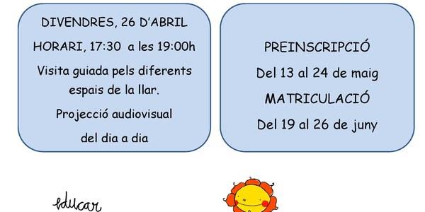 Portes obertes Llar Infants Ralet-Ralet