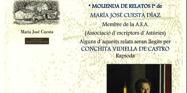 """Presentació del Llibre de l'autora Maria José Cuesta """"Molienda de Relatos"""""""