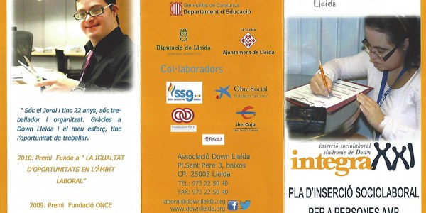 Projecte Integra XXI. Pla d'inserció sociolaboral per a persones amb discapacitat intel.lectual