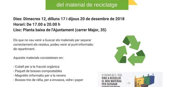 Punts de recollida del material de reciclatge