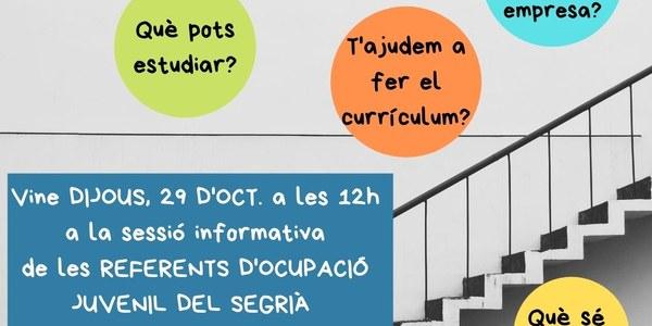 Sessió informativa dels Referents d'ocupació Juvenil del Segrià