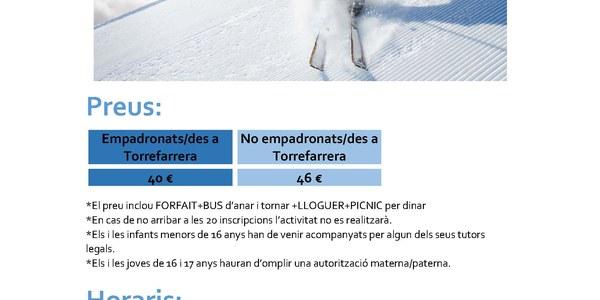 Sortida a esquiar a Cerler amb Cal Jove