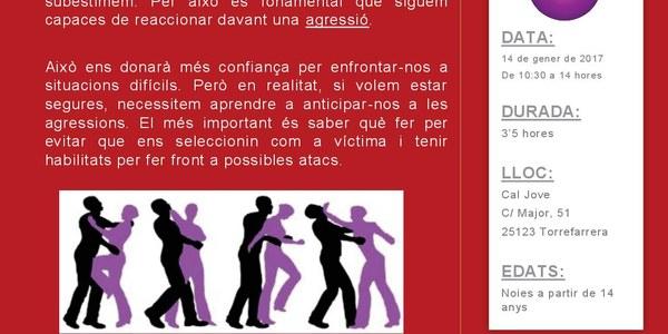 Taller de defensa personal adreçat a noies