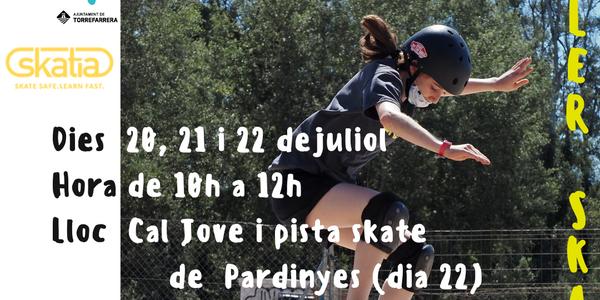 Taller d'Skate amb l'Estiu Jove de Cal Jove