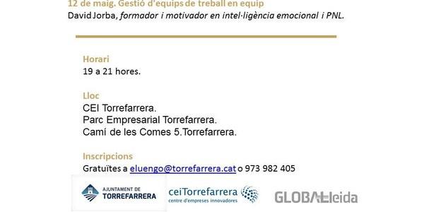 Tornen els dijous emprenedors al Cei de Torrefarrera.
