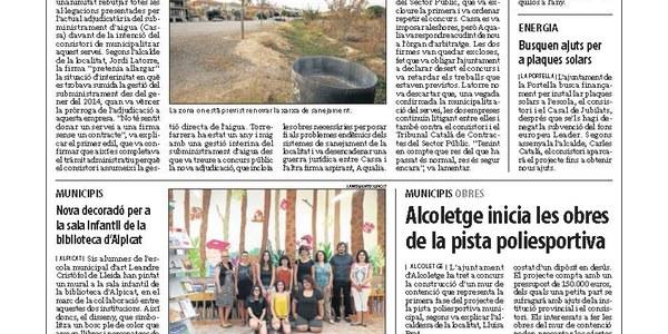 Torrefarrera confirma la gestió directa del subministrament d'aigua