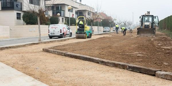 Torrefarrera crea un gran passeig verd de més d'un quilòmetre i 15.000 m2 de zona verda