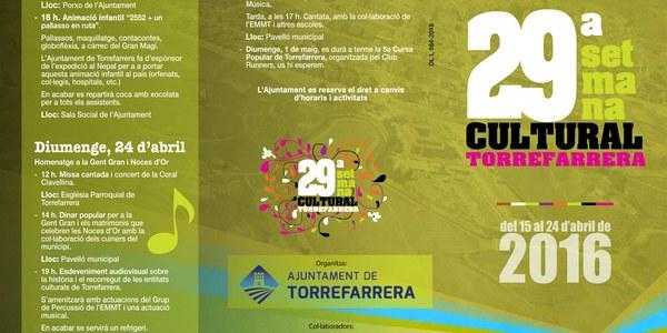Torrefarrera dóna el tret de sortida a la 29a Setmana Cultural