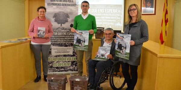 Torrefarrera engega una campanya per fomentar el reciclatge i abandonar la cua a nivell català
