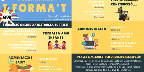 Torrefarrera Jove organitzar una formació online o a distància per a joves de 16 a 25 anys