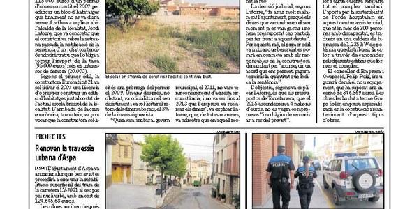 Torrefarrera, obligada a tornar 115.000 euros d'un permís d'obres
