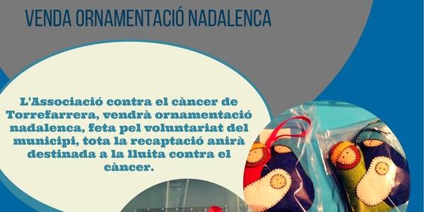 Venda d'ornamentació Nadalenca de l'Associació contra el càncer