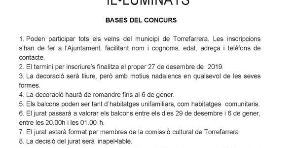VII Concurs de Balcons decorals i/o il.luminats Nadal 2019