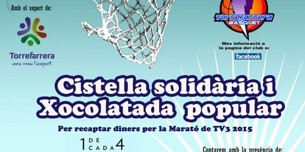 Vine a la cistella solidària i xocolatada popular per recaptar diners per La Marató de TV3