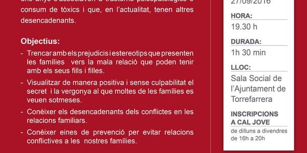 """Xerrada  """"Destapant els conflictes en les relacions familiars"""""""