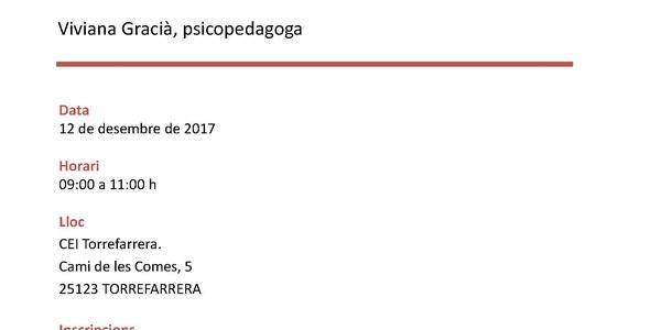 """Xerrada a càrrec de Viviana Gracià, """"Els psicotècnics i l'entrevista de treball"""""""